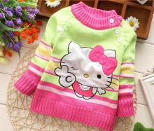 Boys Girls child stripe sweater child 100% cotton knitting sweaters autumn children's clothing baby cardigan