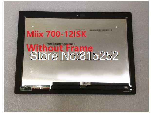 Laptop Touch Screen+LCD Display assembly No frame For Lenovo Miix 700-12ISK 80QL LTL120QL01-001 2160*1440 510-12ISK 5D10M13938 free dhl 100% tested lcd display touch screen assembly for lg g3 d855 d850 track no