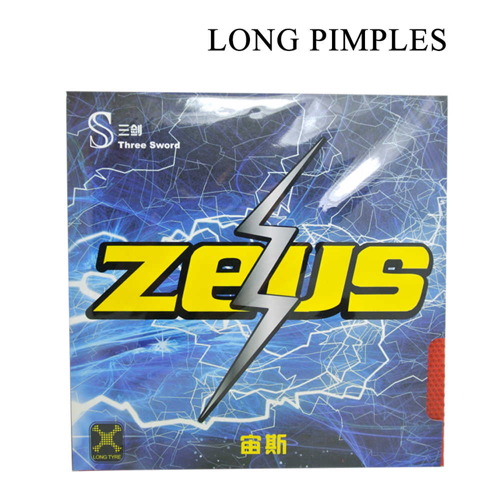 ITTF Approved Three Sword ZEUS Long Pimples Table Tennis Cover / Table Tennis Rubber/ Ping Pong Rubber
