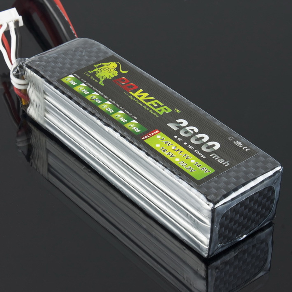 1pcs Lion Power Lipo Battery 11.1V 2600Mah 30C MAX 45C T Plug for RC Car Airplane Align TREX 450 Helicopter 1pcs lion power lipo battery 11 1v 1200mah 25c max 40c t plug for rc car airplane helicopter