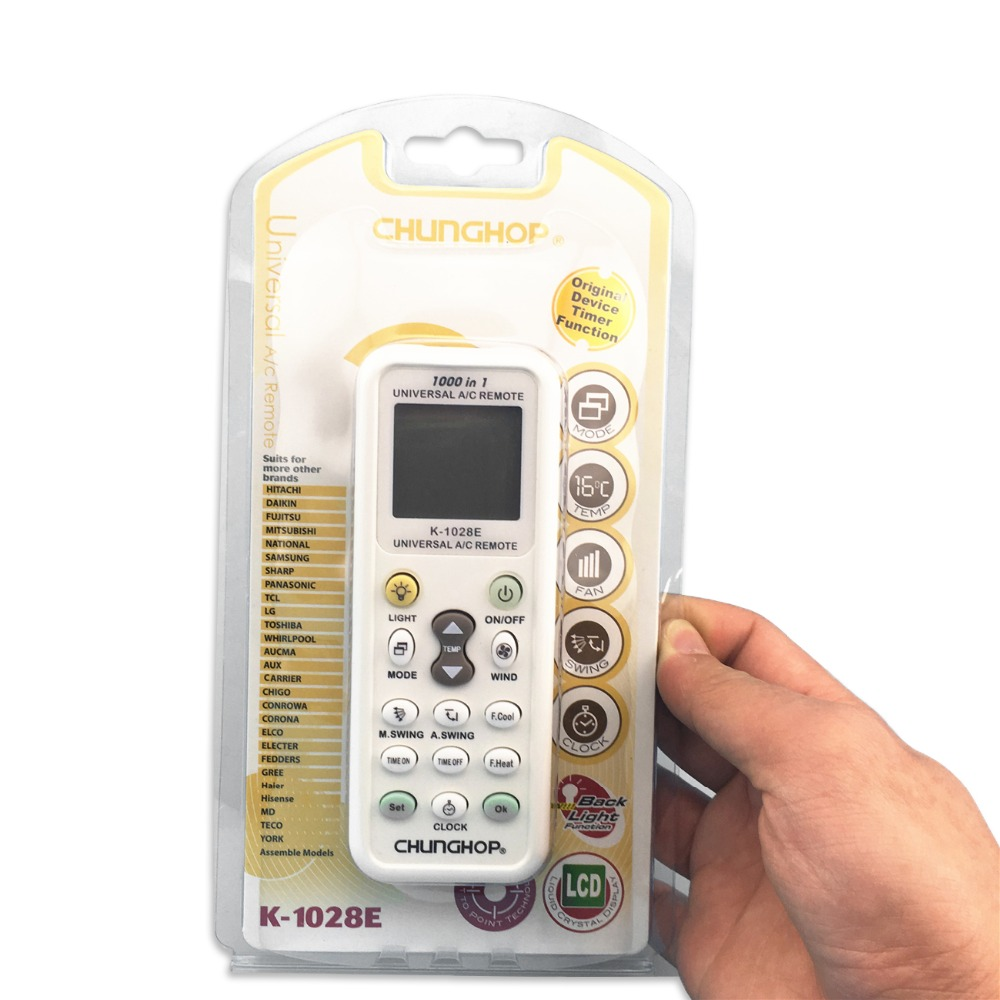 1PCS Universal A/C controller Air Conditioner air conditioning remote control <font><b>CHUNGHOP</b></font> K1028E With packaging k-<font><b>1028e</b></font> image