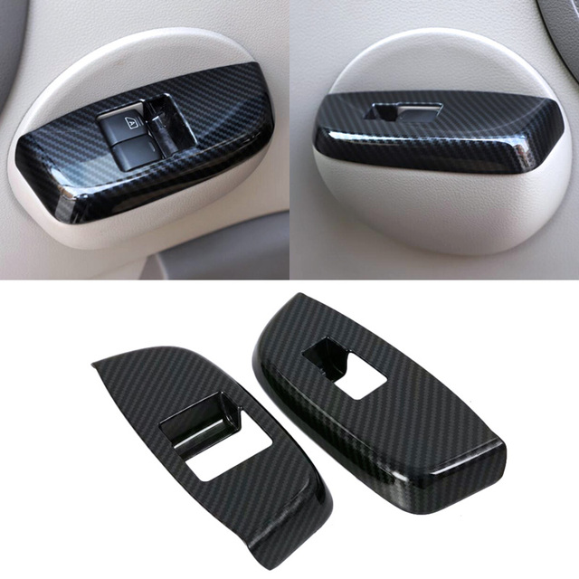 Carbon Fiber Color Interior Door Handle Armrest Cover For NISSAN NV200 Evalia 2010 - 2018 Car Styling Stickers Auto Accessories