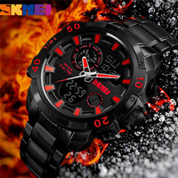 SKMEI Top Brand Luxury Mens Watches Men Watch Fashion Quartz Wristwatch Waterproof Zegarek Man Clock Relogio