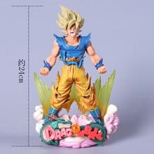 Фотография YDAENERYS Anime Figure Dragon Ball Z Son Goku Super Saiyan Model PVC Action Figure Dragonball 24cm Model Toys Christmas Gift
