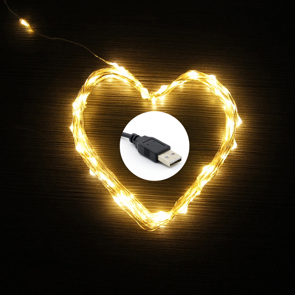 10M 100 LEDs Warm White/Cold White/Multi-Color USB Powered Copper Wire LED String Lights Starry lights Indoor Outdoor Decorating