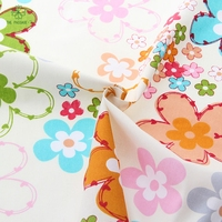 2015cotton Fabric Twill Colorful Flower Pattern Home Textile Patchwork Quilting Clothing Dress Bedding Tilda 50cmx160cm Piece