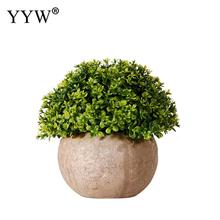 Artificial Plants Green Mini Bonsai Small Tree Pot Fake Flowers Potted Ornaments Desktop Party Supplies