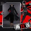 Костюм для косплея Persona 5 Joker Аниме Косплей Полный комплект униформы с красными перчатками для взрослых на вечерние Хэллоуин
