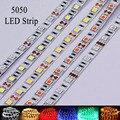 DC 12 V rgb LED Luz de Tira impermeável 5050 SMD diodo LÂMPADA led fita 60 leds/m garland diodo Fita neon corda Férias iluminação