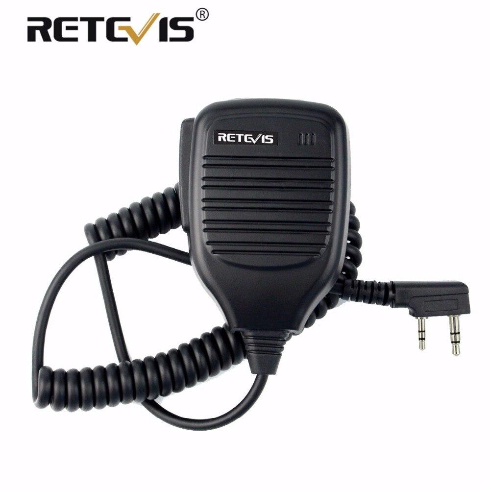 Handheld Microphone Haut-Parleur PTT MIC Accessoires Pour Kenwood Pour Baofeng UV-5R 888 S Talkie Walkie Retevis H777 RT5R RT5 RT22 RT21