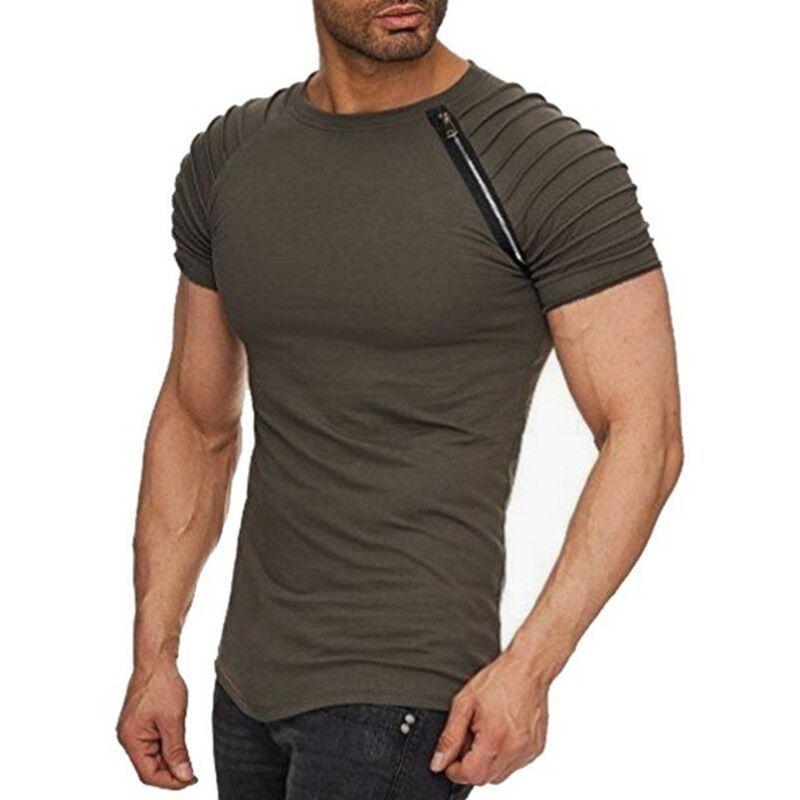 Summer Men's Slim Fit Short Sleeve mens clothing tees T Shirt fashion tshirts brand men 5 colour