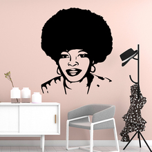Free shipping Africa woman Nursery Wall Stickers Vinyl Art Decals For Kids Rooms Decoration Background Decal