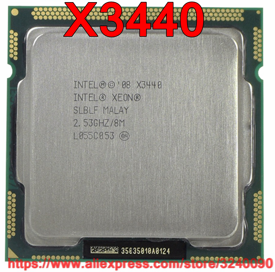 Original Intel Xeon X3440 Quad Core 2.53GHz LGA1156 8M Cache 95W Desktop CPU free shipping speedy ship out-in CPUs from Computer & Office