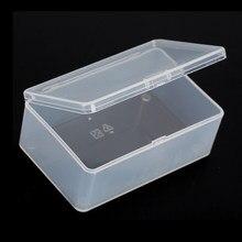 10*6*3.6cm pequena transparente plástico transparente loja moeda/botões mini coisas coleção com tampa caixa de armazenamento recipiente caso
