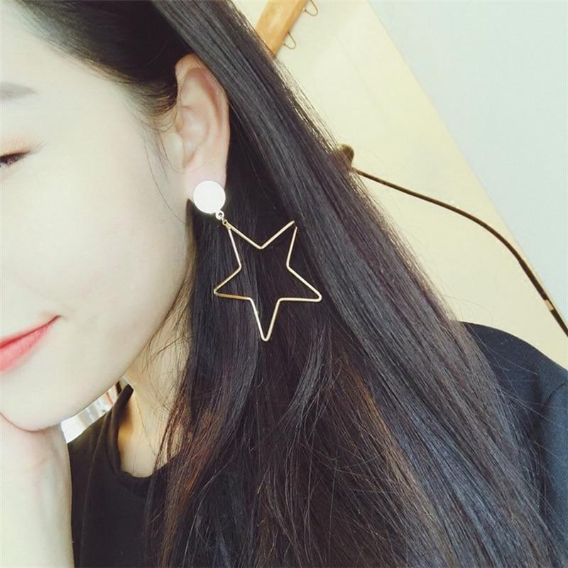 Сережки з великою зіркою для жінок - Модні прикраси - фото 3