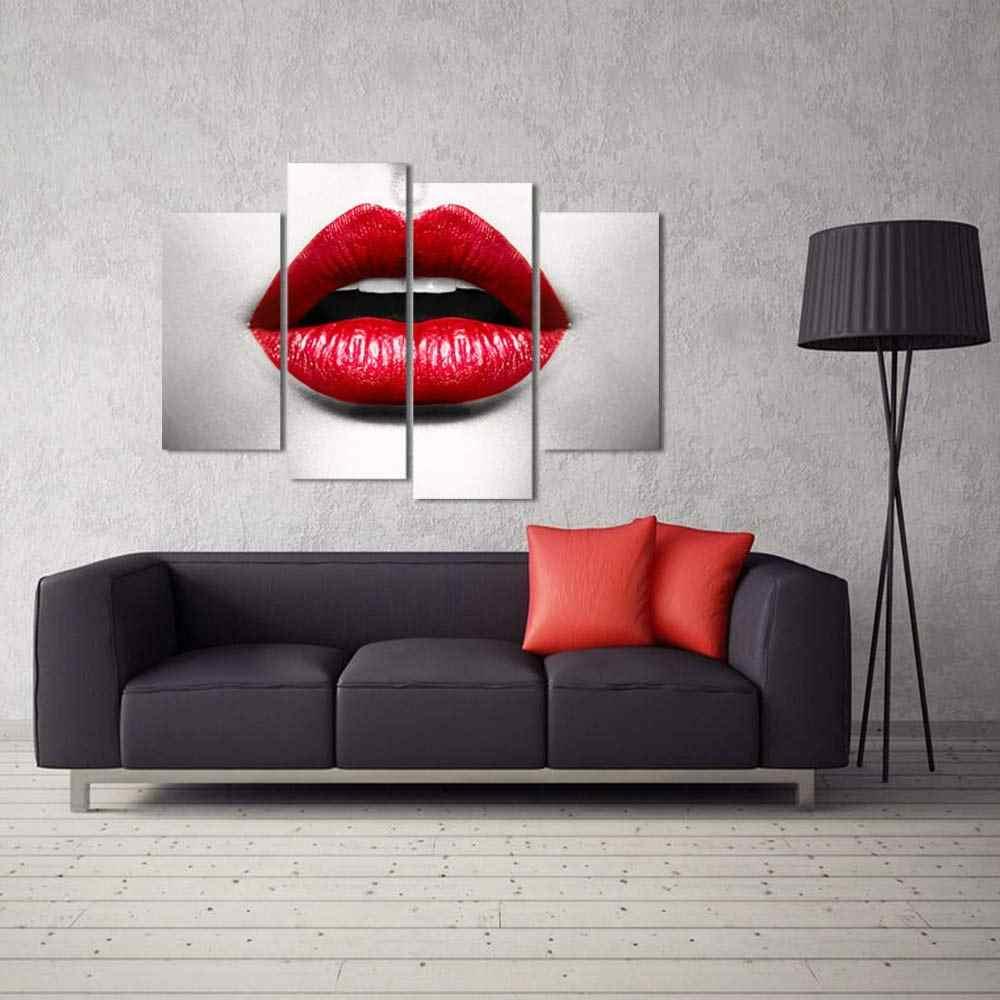 Della tela di canapa Pittura Moderna di Arte Della Parete Poster Giovane Donna Sexy Per Soggiorno Complementi Arredo Casa Immagine Opera