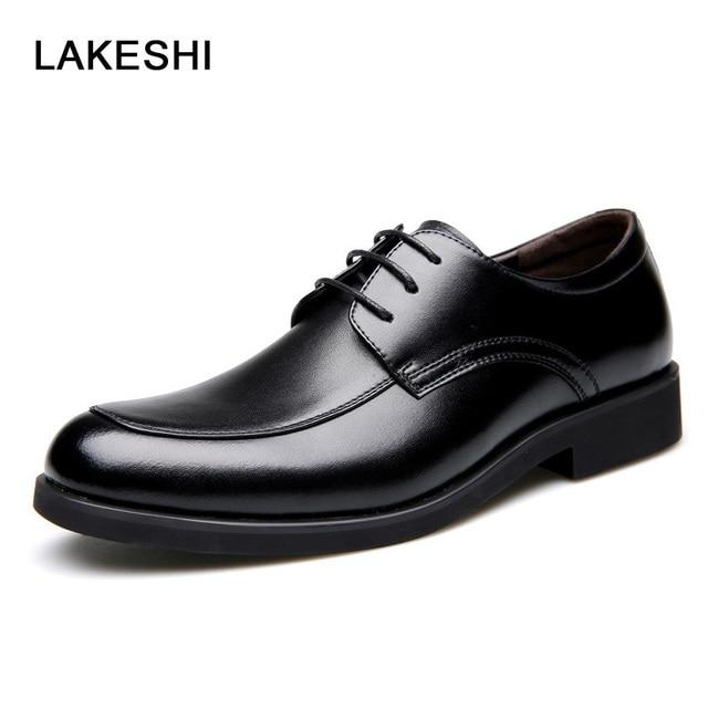 Zapatos negros de invierno de punta redonda oficinas para hombre m2QviAu