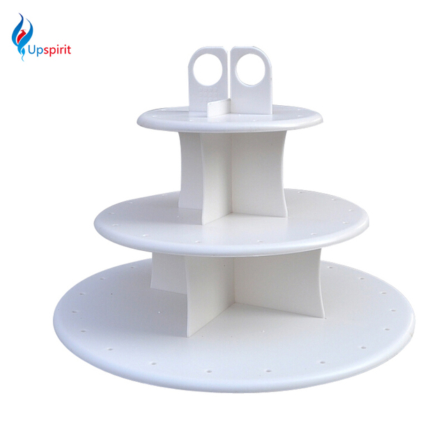 New 40Pcs Assembly Removable 40 Tier White Round Cake Pop Display Interesting Lollipop Stands Display