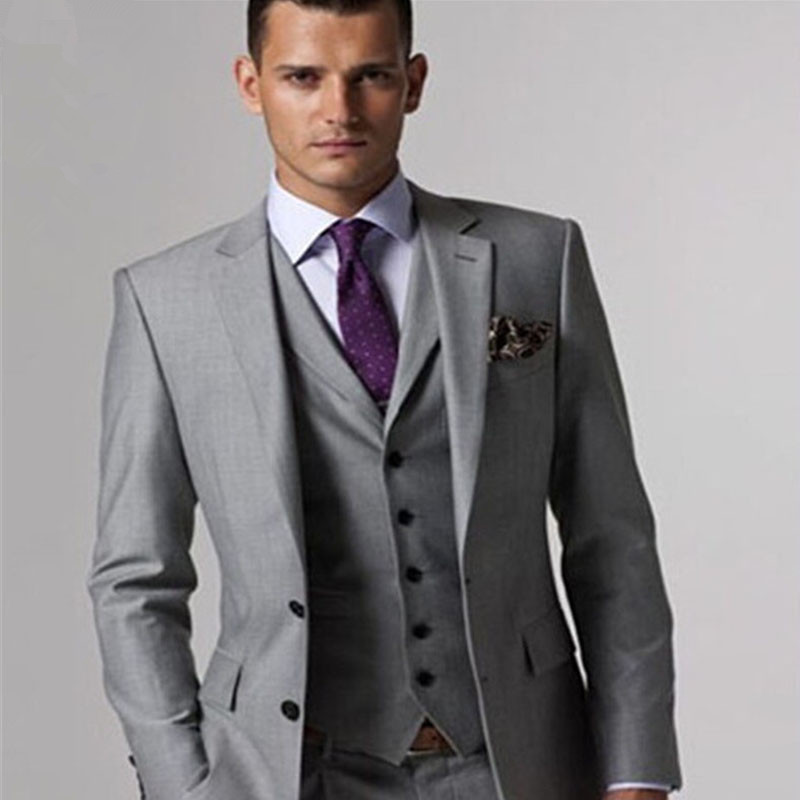 Aliexpress.com : Buy Custom made Mens Light Grey Suits Jacket