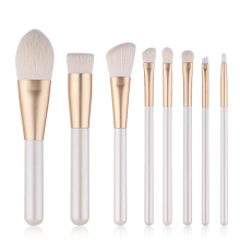 Pro 8/10 Pcs Goat Hair Makeup Brushes Set Cosmetic Tools Face Foundation Powder Eyeshadow Blush Lip Make Up Brush Kit Maquiagem pro goat hair makeup brushes 22pcs cosmetic kit eyebrow eyeshadow blush foundation fan powder make up brush set with pu case page 4