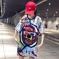 2019 new summer short sleeved t shirt female cotton fashion loose Korean students wild half sleeve shirt