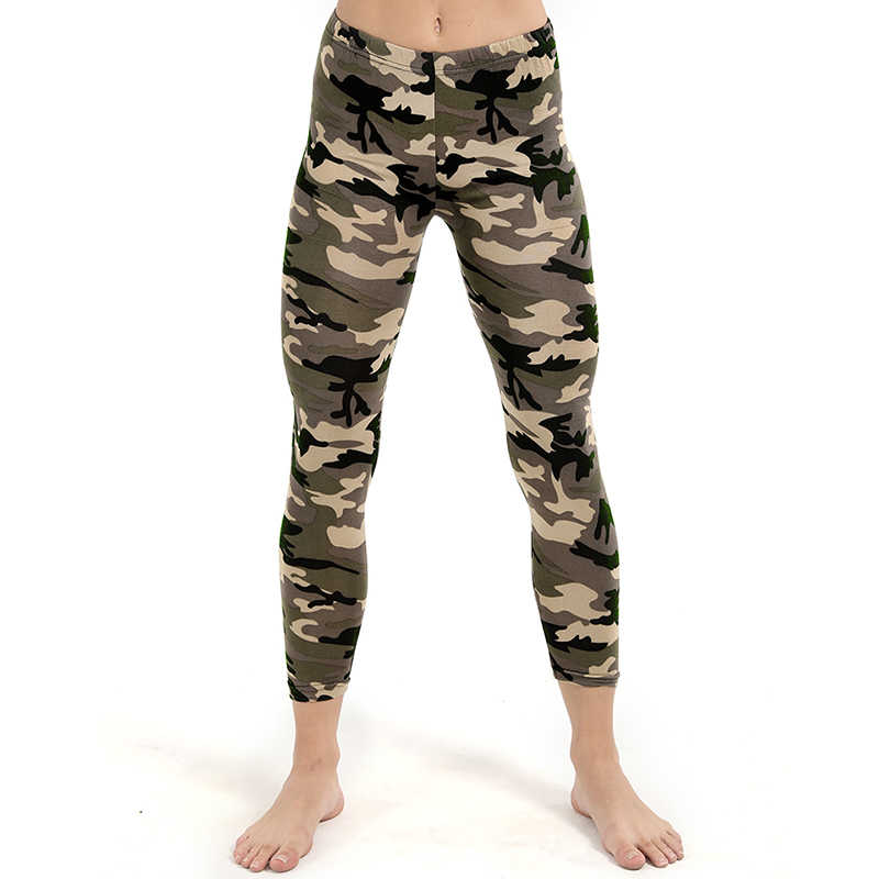 3d9f1cddb50196 ... Army Green Camouflage Printed Leggings For Women Slim Stretch Pencil  Pants High Waist Trousers High Elastic ...