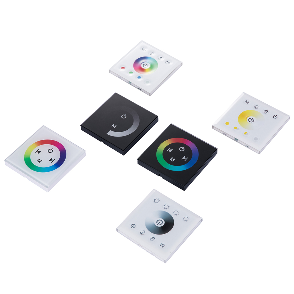 86 Type wall switch Touch Panel RGB single color LED LED Strip Controller DC12V24V Hello Fish