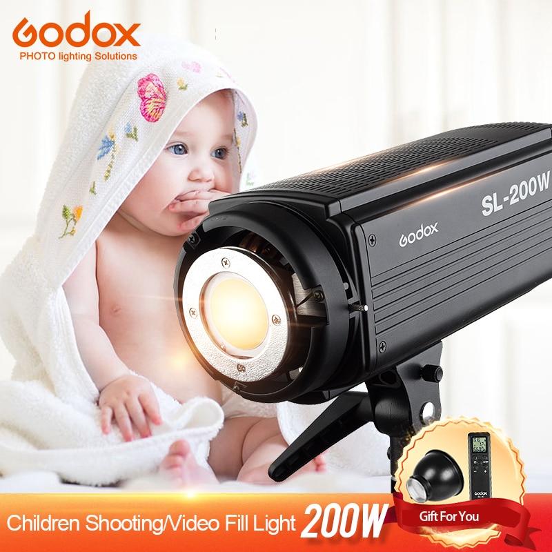 Godox SL-200W светодиодный видео непрерывное 200WS Выход 5600 К белый вариант ЖК-дисплей Панель Bowens Фотостудия освещения