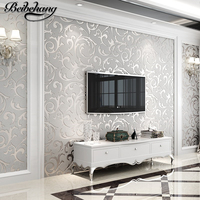 Wallpaper 3D Luxury European Style Damascus Diamond Embossed Non Woven Wallpaper Bedroom Sofa TV Background Wallpaper