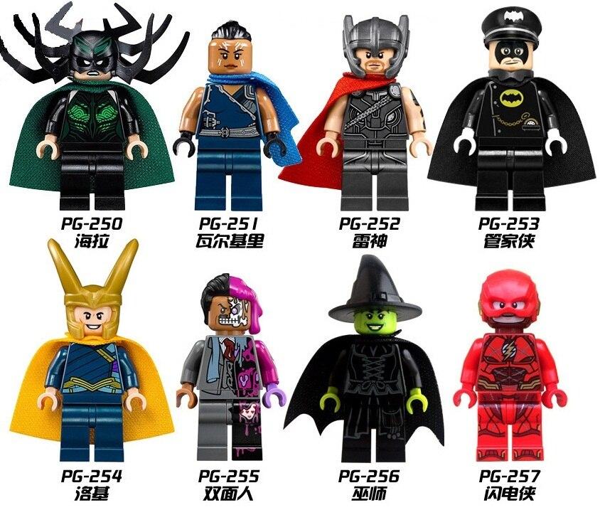 8pcs/Set  Building Blocks Sets china brand Super hero Thor Loki  Hella The housekeeper man compitble with Lego