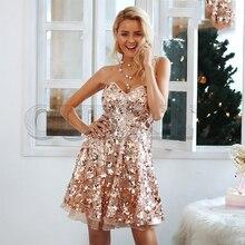 CUERLY Shiny sequin backless sexy mesh dress Winter sleeveless mini V neck party club women punk style vestidos