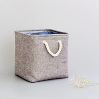 8 canvas Home Storage Organization thickened kids storage box for toys clothing makeup Dirty clothes towel skin care storagebox
