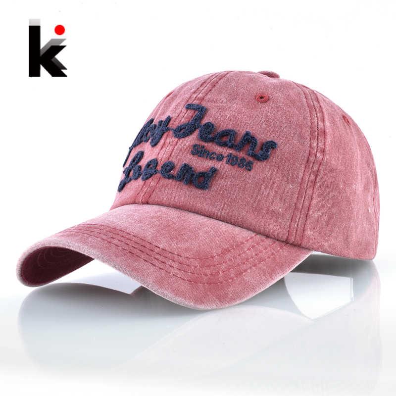 baab91c05a665 Gorra de béisbol de moda las mujeres Denim lavado sombrero de papá para  hombres jugar vaqueros