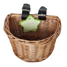 Summer Craftsmanship Child Artificial Weaving Bicycle Basket Wicker Childrens Vegetable