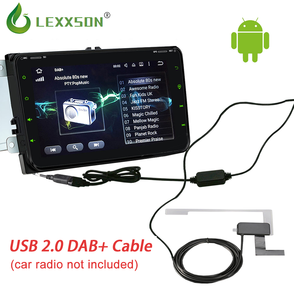 Only Europe 2 Din Autoradio New Usb Dab Car Radio Antenna For Universal Car Radio Tuner Receiver Dab+ Usb Cable Digital Audio
