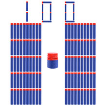 100 pcs/set Blue Soft Bullet Brick type Flat Head Foam Bullets for Nerf N-strike Elite Series