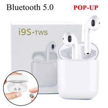 New Fashion I9S TWS Pop-UP Wireless Earphone Portable 5.0 Bluetooth Headset Invisible Earbuds for All IPHONE ANDROID Smart Phone fashion 2016 new new sunglasses bluetooth headset earphone hands free phone call for iphone all smartphone