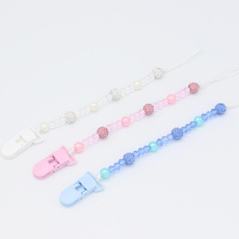 Xcqgh Bling Соски держатель для малышей новорожденных Соски Клип Сеть поводок ремень ребенка прорезыватель-игрушка держатель для душа подарок