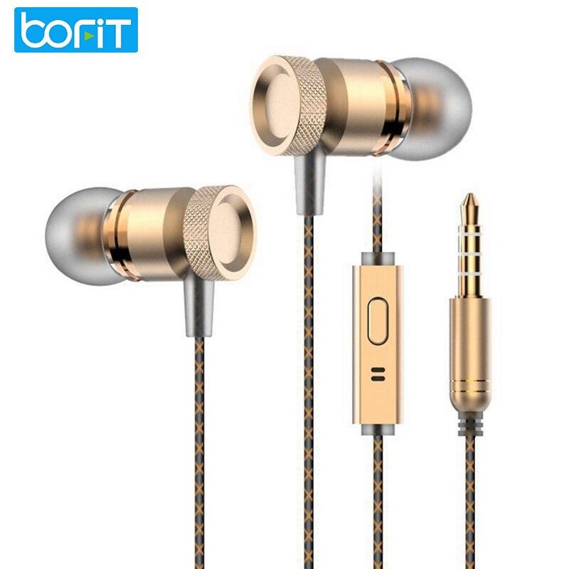Bofit 3.5mm en la oreja los auriculares de metal auriculares calidad de sonido b
