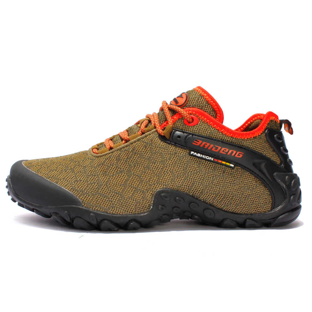 Good Quality 2017 New Hiking Shoes Mesh Rubber Sole Men