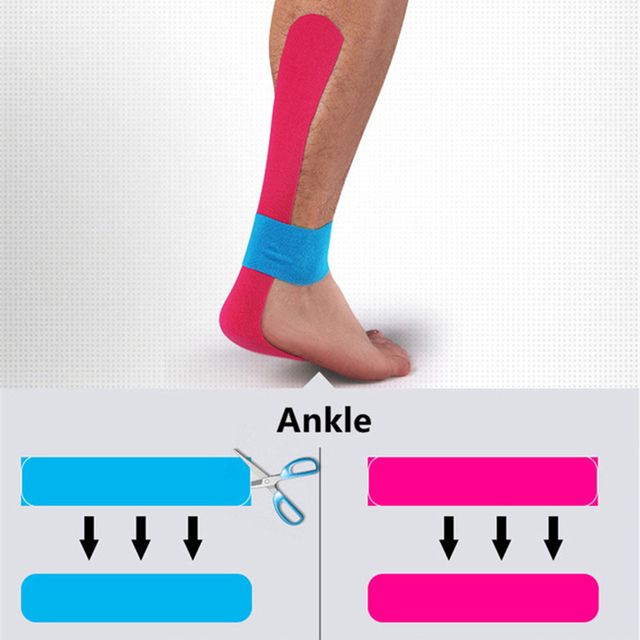 2 Size Kinesiology Tape Perfect Support for Athletic Sports, Recovery and Physiotherapy Kinesiology Taping 3