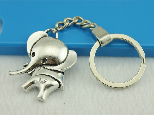 Cool New Popular Elephant Mon son gifts Pendant trendy Keyring Keychain For Car Purse Bag Buckle key holder Chains