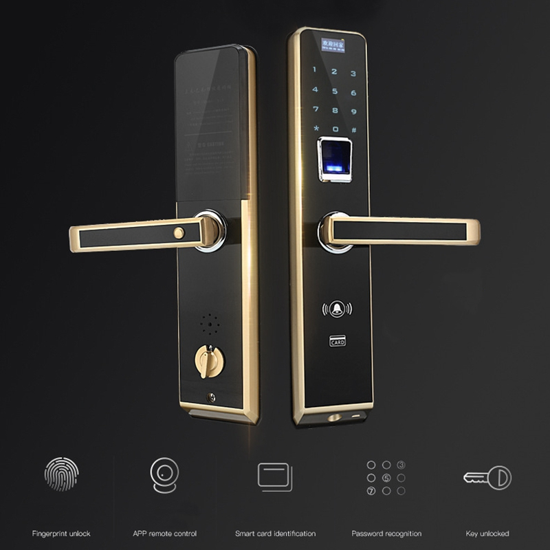 Цифровой замок по отпечатку пальца безопасности двери домашний пароль дистанционного умный электронный IC замок