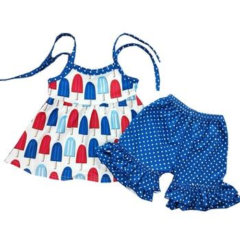 24e7fb9b3 Sling Girl Polka Niños Vestidos Ropa Dot Helado Shorts Niña Lindo ...