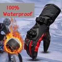 Moto rcycle handschuhe 100% Wasserdicht winddicht Winter warm Guantes moto Luvas Touchscreen moto siklet Eldiveni Schutzhülle auf