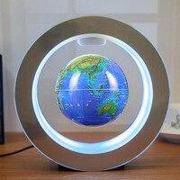 Magnetic levitating lamp 4 circular globe Creative novelty lights Levitation floating globe Novelty gifts Chrismas lights