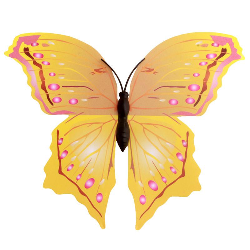 12pcs/set PVC 3D Butterfly Wall Decor Cute Butterflies Wall Stickers ...