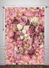 Arte Personalizar Retrato de Estúdio Recém-nascidos fotografia Tecido pano de fundo Pano de Fundo Digital Impressão de Fundo Floral D-8059