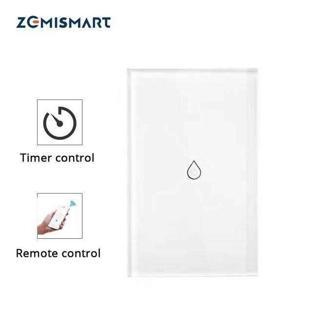 Interruptor de calentador de agua inteligente Wifi interruptor de caldera Alexa Google Home Voice US Panel táctil estándar temporizador al aire libre 4G App control