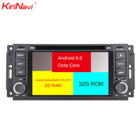 KiriNavi Octa core 4G LET android 7 dvd for jeep wrangler radio Chrysler Sebring Aspen 300C Cirrus Commander support 4K 4G
